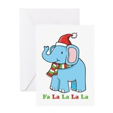 Fa La La La La Elephant Greeting Card