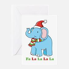 Fa La La La La Elephant Greeting Card