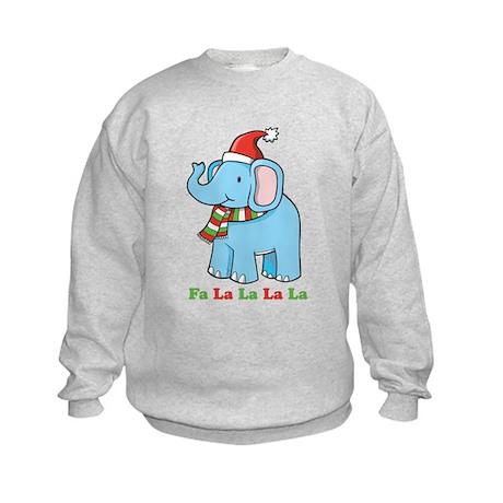 Fa La La La La Elephant Kids Sweatshirt