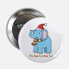 "Fa La La La La Elephant 2.25"" Button"