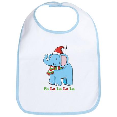 Fa La La La La Elephant Bib