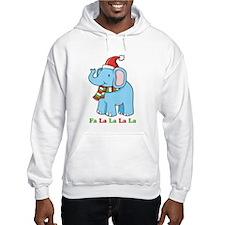 Fa La La La La Elephant Jumper Hoody