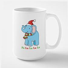 Fa La La La La Elephant Large Mug