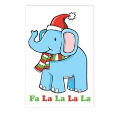 Fa La La La La Elephant Postcards (Package of 8)