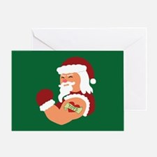 Santa Tattoo Greeting Card