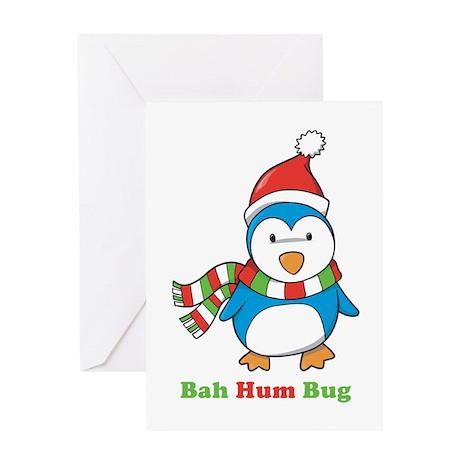 Bah Hum Bug Penguin Greeting Card