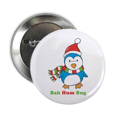 "Bah Hum Bug Penguin 2.25"" Button (10 pack)"