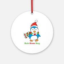 Bah Hum Bug Penguin Ornament (Round)