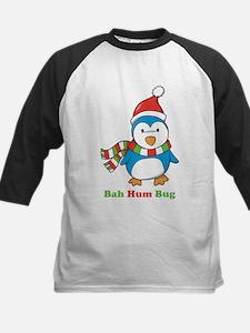 Bah Hum Bug Penguin Kids Baseball Jersey