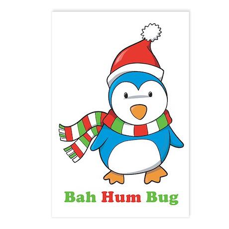 Bah Hum Bug Penguin Postcards (Package of 8)
