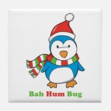 Bah Hum Bug Penguin Tile Coaster