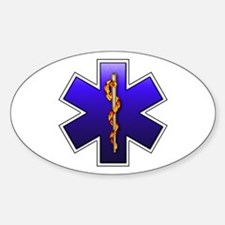 Star of Life(EMS) Oval Decal