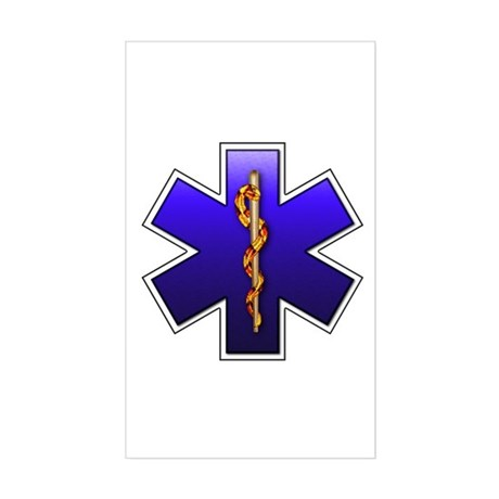 Star of Life(EMS) Rectangle Sticker