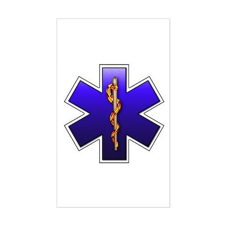 Star of Life(EMS) Rectangle Sticker