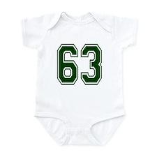 NUMBER 63 FRONT Infant Bodysuit