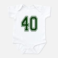 NUMBER 40 FRONT Infant Bodysuit