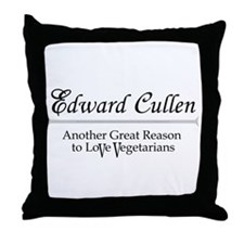 Vegetarian Edward Cullen Throw Pillow