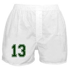NUMBER 13 FRONT Boxer Shorts