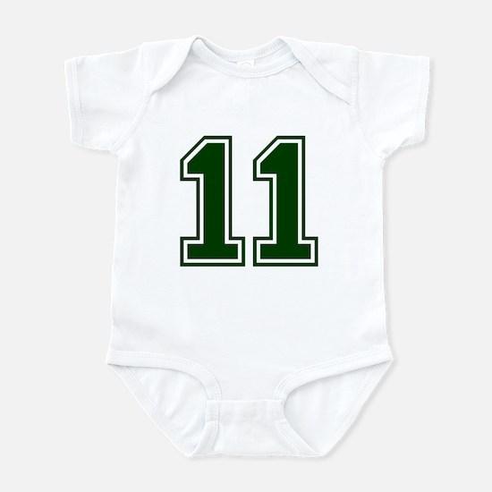 NUMBER 11 FRONT Infant Bodysuit