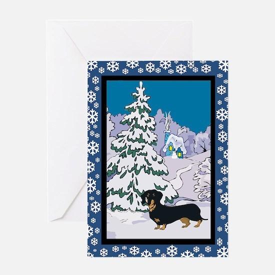 Winter Wonderland Dalmatian Greeting Card