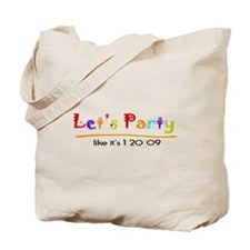 Let's Party Obama Inaguration Tote Bag
