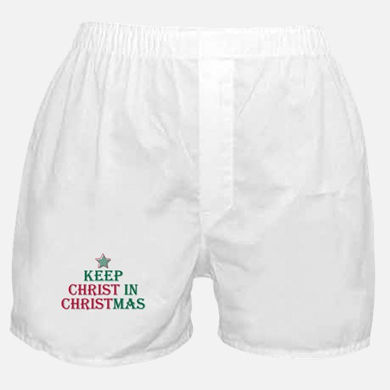 Keep Christ star Boxer Shorts