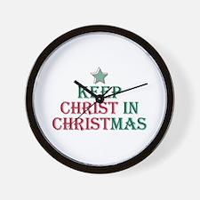 Keep Christ star Wall Clock