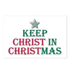 Keep Christ star Postcards (Package of 8)