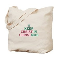 Keep Christ star Tote Bag