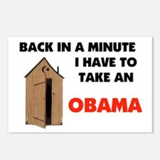 OBAMA IS FULL OF IT ! Postcards (Package of 8)
