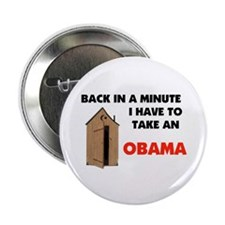 "OBAMA IS FULL OF IT ! 2.25"" Button"
