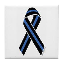 Police Vets Ribbon Tile Coaster