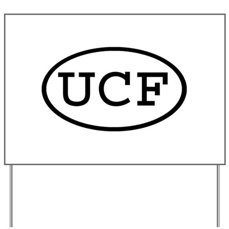 UCF Oval Yard Sign