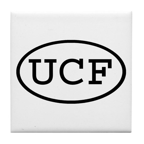 UCF Oval Tile Coaster