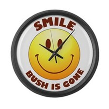 SMILE! Bush is gone Large Wall Clock