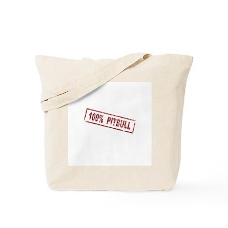 100% Pitbull Tote Bag