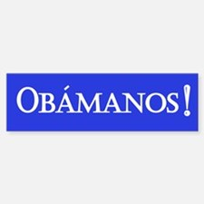 Obamanos in blue Bumper Bumper Bumper Sticker