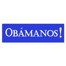 Obamanos in blue Bumper Bumper Sticker