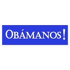 Obamanos in blue Bumper Car Sticker
