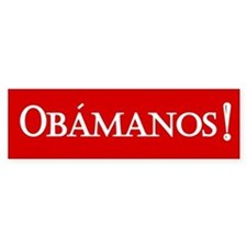 Obamanos in red Bumper Bumper Sticker