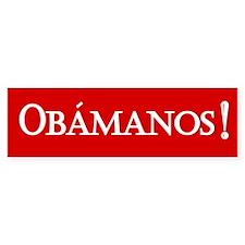Obamanos in red Bumper Bumper Sticker