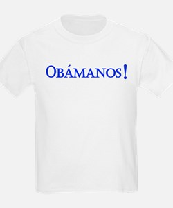 Obamanos blue letters T-Shirt