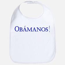 Obamanos blue letters Bib