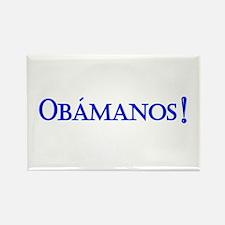 Obamanos blue letters Rectangle Magnet