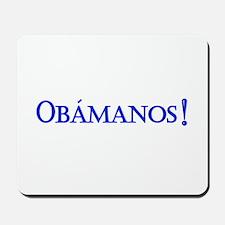 Obamanos blue letters Mousepad