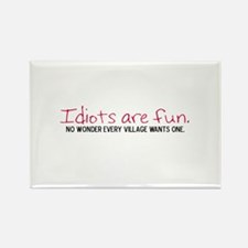 The Village Idiot Rectangle Magnet (10 pack)