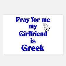 Pray for me My Girlfriend is Greek Postcards (Pack