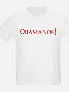 Obamanos blue letters T-Shirt