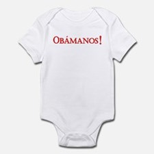 Obamanos blue letters Infant Bodysuit