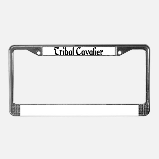 Tribal Cavalier License Plate Frame